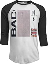 fghfghe Bad Company 10 from 6 Men's de los Hombres 3/4 Sleeve Raglan Baseball T Shirts Black Camisetas