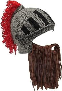 Wig Beard Hats Handmade Knit Warm Winter Caps Ski Funny Mask Beanie for Men Women