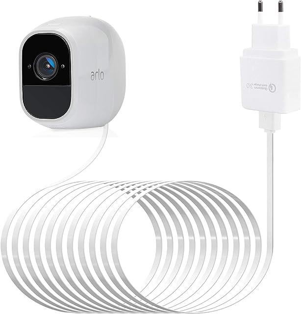 Cable Micro USB para Arlo Pro 2 BECROWMEU Cable de alimentación para Arlo Pro Cable de Carga Impermeable para cámara de Seguridad Compatible con Arlo Pro PRO2 GO Arlo Light