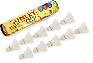 Sunley K-10 White Feather Shuttle Cock Pack of 10 Piece