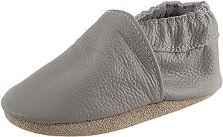 Cuero Suave Zapatos de Bebe Pantuflas Infantiles Patucos 0-3 Años