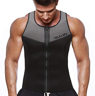 Neoprene Sauna Vest for Men, Sweat Shirt Waist Trainer, Body Shaper Slimming Suit Weight Loss