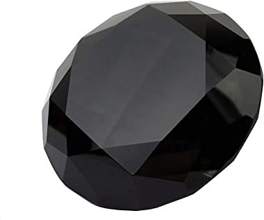 Black Crystal 60mm Jewel Paperweight Glass Diamond Decorations Giant Diamond Prop Wedding Home Decor