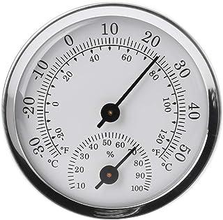 MiSha Thermomètre hygromètre 2 en 1 Mini Thermomètre Mural Thermomètre Hygromètre Thermomètre Hygromètre en Alliage d'alum...