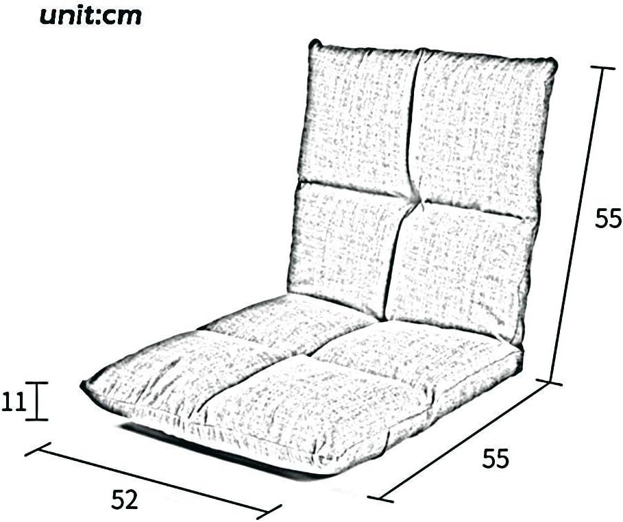 WZF Fauteuils Chaise Pliante de canapé Paresseux, Chaise de Jeu réglable à 6 Positions pour Salon, Chambre et Balcon , Vert/Bleu/Marron (Couleur: Bleu) Brown