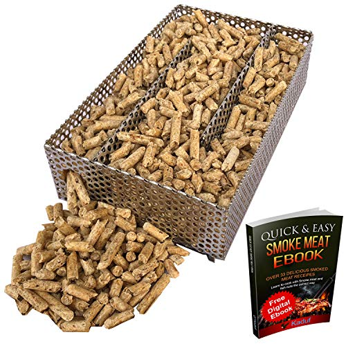 Kaduf Pellet Smoker Tray 5' x 8' - 12 Hours of Billowing Smoke, Perfect for...