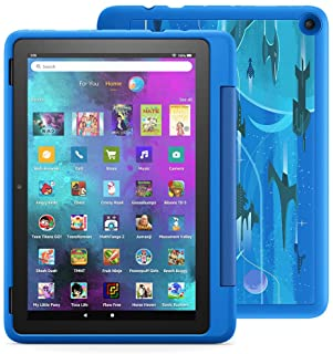 """Introducing Fire HD 10 Kids Pro tablet, 10.1"""" HD, ages 6–12, with 2-year warranty, thousands of apps, games, books and mor..."""