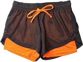 VPASS Mujer Pantalones Cortos Mallas Mujer Fitness Elástico