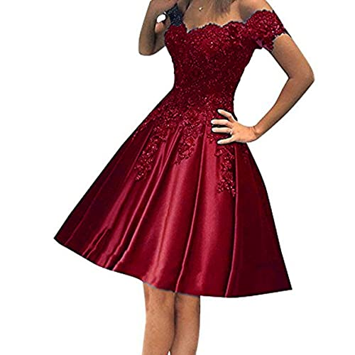 1f34e42db442 Little Star Satin Short Prom Dresses 2018 for Juniors with Long Sleeve  Homecoming Ball Gown