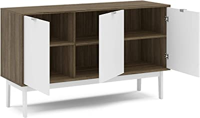 Polifurniture Moore Sideboard Buffet Cabinet, Walnut