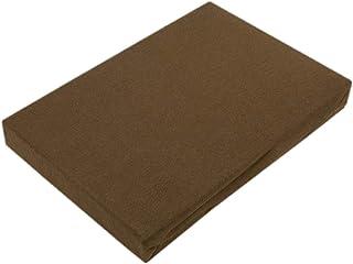 Drap-housse en jersey de qualité supérieure avec élastique, Coton, chocolat, 140 - 160 x 200 cm