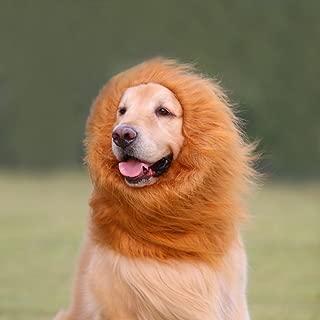 EVINIS Large Pet Dog Cat Lion Wigs Mane Hair Festival Party Fancy Dress Clothes Costume,Lion neckerchief Collar Wigs Mane Hair Labrador Golden retriever lanmu