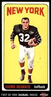 1965 Topps # 118 Cosmo Iacavazzi New York Jets (Football Card) Dean's Cards 3 - VG Jets