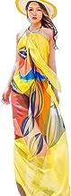 Sexy Women Chiffon Beach Swimwear Sarong Wrap Dress Bikini Cover Up Scarf (Yellow)