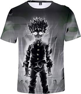 ZYOONG Cool Vogue Man's Design Tee, Anime 3D Print T-Shirt Funny Mob Psycho 100 Cartoon Casual Tops Tees Cute Mens T-Shirt...
