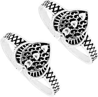 PCM Designer Toe Ring 92.5 Sterling Silver Plated Toe Ring For Women