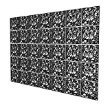 Paneles Separador Ambientes de 35 Piezas - 202x283cm - Negro Pared Separador De Ambientes Pétalo Biombo Decorativo para Cocina, Oficina, Despensa, Baño, Armario