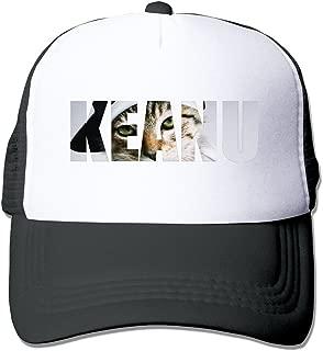SAXON13 Unisex Baseball-caps Mesh Back Animated Cool Cat Hat Cpas Black