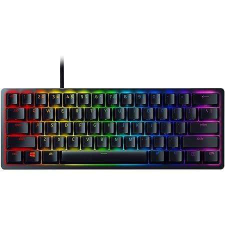 Razer Huntsman Mini (Rosso Switch) - Tastiera da Gaming con Fattore di Forma al 60% (Tasti in PBT, Memoria Integrata, Cavo Type-C Rimovibile, Struttura in Alluminio), Qwerty US-Layout, Nero