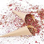 wuweihome 100 grams dried rose petal natural dry flower confetti, biodegradable dried flower petals wedding confetti for wedding party, graduation photoshoot, home decoration and diy crafts
