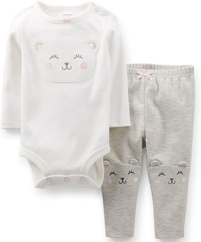 Carter's Baby Girls-2-Piece Bodysuit  Pant Set