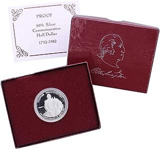 1982 S George Washington Commemorative 90% Silver Half Dollar Gem deep Cameo Proof