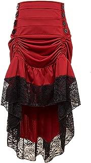 Amyline Mujer Vestido Vintage,Falda Larga De Fiesta Irregular De Encaje Punky En Capas Steampunk G/ótico De Mujer Fiesta Vestido De C/óctel Vintage Vestido De Fiesta