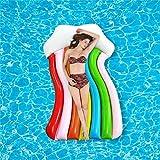 FYRMMD Juguetes inflables para Piscina, Nubes arcoíris, colchón Flotante para Piscina Gaint, Esterilla para Tomar el Sol, Anillo de natación de Aire, círculo (Piscina)