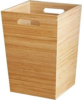 Home Kitchen Trash Cans الحديثة القمامة الخيزران يمكن أن تضيع قابلة لإعادة تدوير سلة النفايات ساحة بن ميدان للمنزل أو المك...