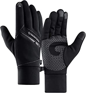 Ginoland Winter Gloves Touch Screen Warm Gloves Windproof Lightweight Gloves for Men Women Hiking, Cycling, Driving