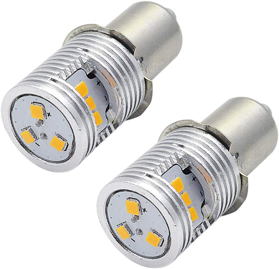 2Pcs Replacement Bulbs For Maglite P13.5S Base PR2 High Power LED Upgrade Kit