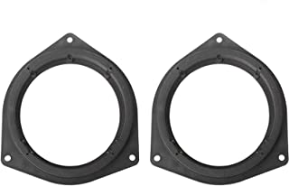"Orgrimmar 2 Pcs 6.5"" Plastic Car Speaker Spacers Adapter Black Mounting Spacer Adaptor Ring for Toyota/Crown/Reiz/BYD F3"