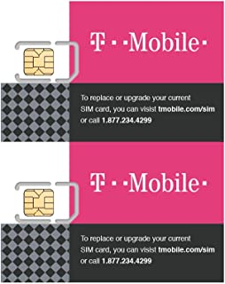 (2 Pack) Authentic Official T-Mobile SIM Card Micro/Nano/Standard GSM 4G/3G/2G LTE Prepaid/Postpaid Starter Kit Unactivate...