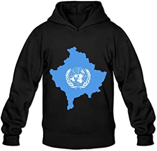 Flag Map Of Kosovo Geek Roundneck Long Sleeve Hoodies For Adult