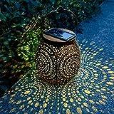 Folektype Solar Lanterns Outdoor Waterproof Decorative Hanging Solar Lights Lamp for Garden Patio Yard Walkway Party Decor (Bronze)