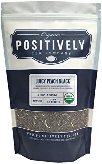 Positively Tea Company, Organic Juicy Peach, Black Tea, Loose Leaf, USDA Organic, 1 Pound Bag