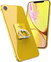 iRing Original by AAUXX Cell Phone Ring Holder, Mobile Finger Grip Ring Stand Compatible with iPhone, Samsung, Other Android Smartphones and Tablets.(Yellow)