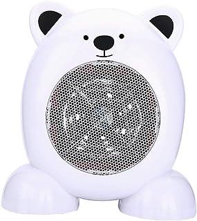 ZRSA Mini Ventilador Eléctrico Calefactor Eléctrico bajo Consumo, Portátil Ventilador Calefactor PTC Cerámica Calefactor Aire Caliente Oscilación Automática