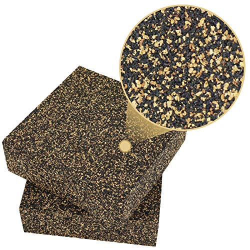 BXI - Anti Vibration Isolation Pads - 6 X 6 X 2 inches 2 Pack Rubber & Cork Pad - Thick & Heavy - Excellent at Low Frequencies, Great Acoustic Isolation for Speakers, Washers, Machines, etc