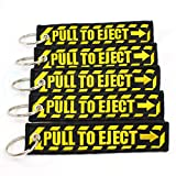 PULL TO EJECT Key Chain - Black/Yellow - 5 PCS by Rotary13B1