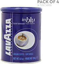 Lavazza in Blu Espresso Ground Coffee Blend, Medium Espresso Roast, 8.8-Ounce Cans (Pack of 4)