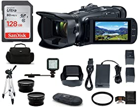Canon VIXIA HF G50 Full HD Camcorder Bundle, Includes: 128GB SDXC Memory Card, LED Light, Spare Battery, 58mm Telephoto & Wide Angle Lenses, Camcorder Bag and More.