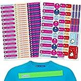 INDIGOS UG Pegatinas de nombre - Set - 160 piezas - Pingüino - 80 etiquetas para planchar + 80 sticker - escuela y jardín de infancia