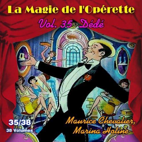 Raymond Girerd, Maurice Chevalier & Marina Hotine