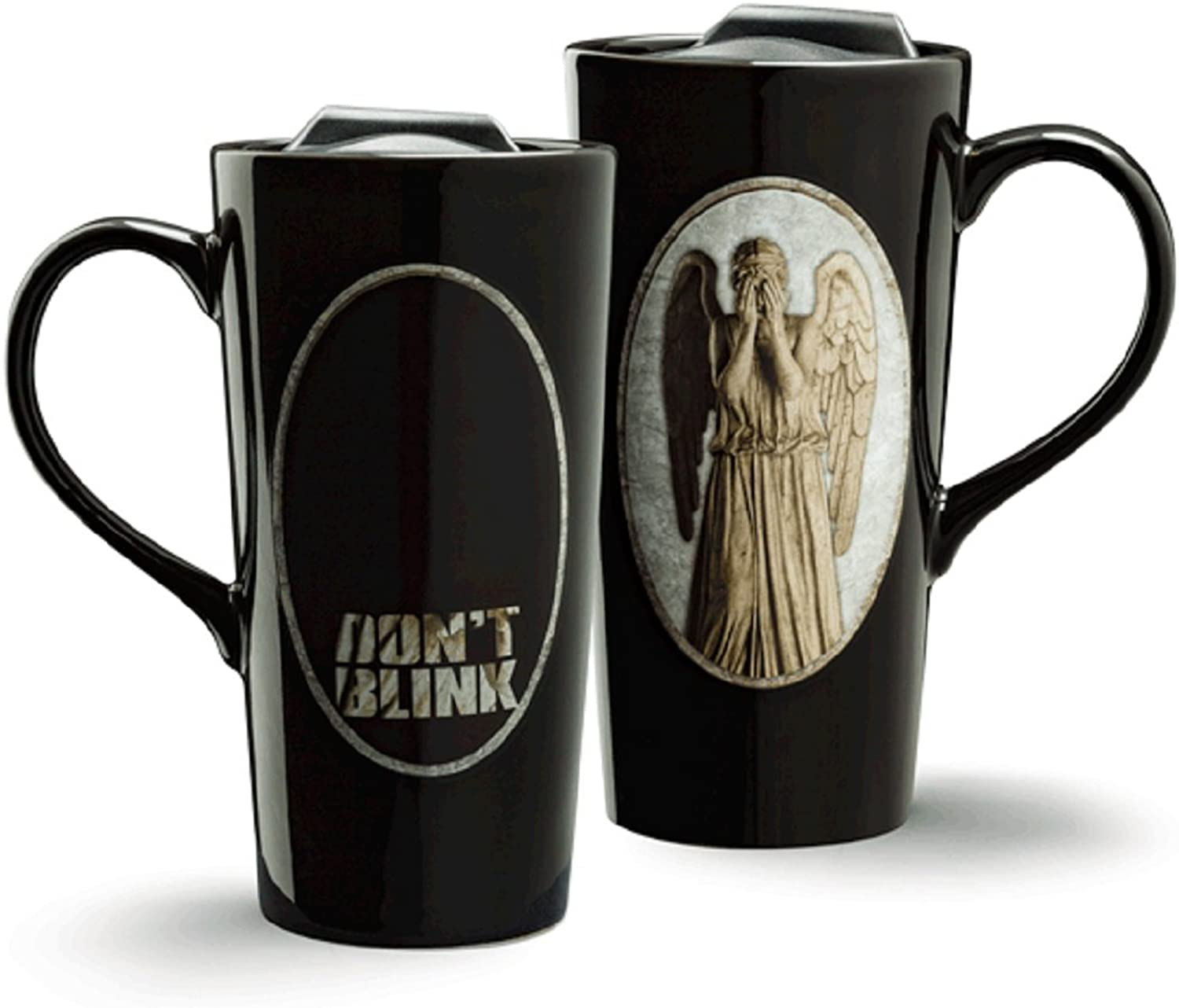 Doctor Who Weeping Angel Heat Change 20oz Ceramic Travel Mug by TG