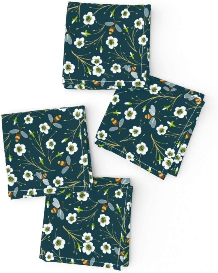 Roostery Spoonflower Cloth Cocktail Napkins Small security Sweet Tampa Mall Dee Bee