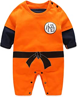 Cosplay Short Sleeve Baby Boy and Girl Goku Romper Costume Jumpsuit Baby Clothes