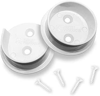 Nuk3y Heavy Duty Metal Steel Closet Pole Socket Set 1-1/2