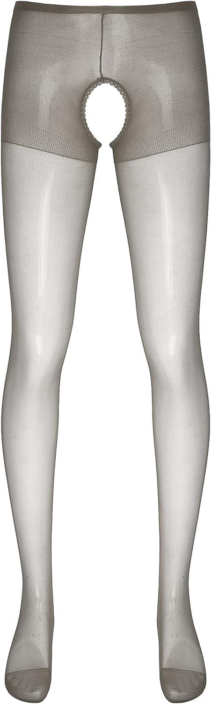 YONGHS Mens Mesh Thin Footed Tights Stockings Sissy Stockings Pantyhose Leggings Lingerie Nightwear