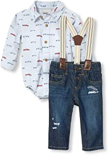 The Children's Place Baby Boys Woven Shirt and Pant Set